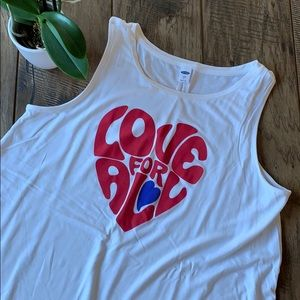 Love graphic luxe tank top